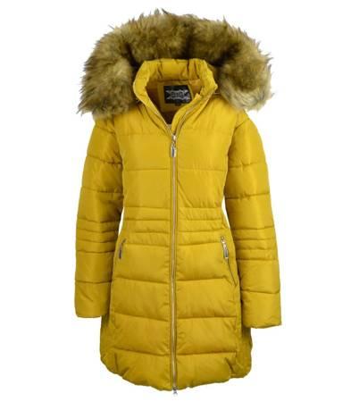 Dłuższa ciepła kurtka zimowa płaszczyk
