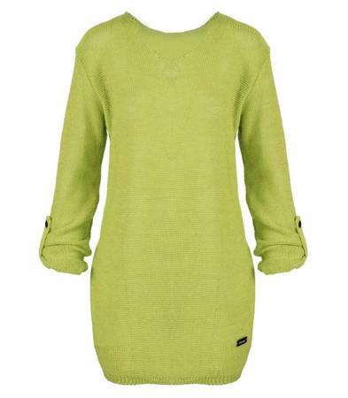 Dłuższy lekki super mody sweter oversize