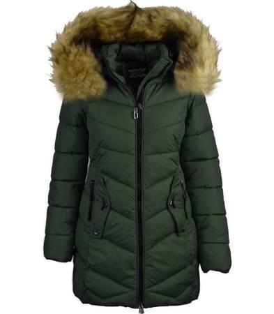 Fajna ciepła zimowa kurtka płaszczyk