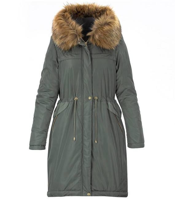 Hologramowy płaszcz zimowy parka FUTRO