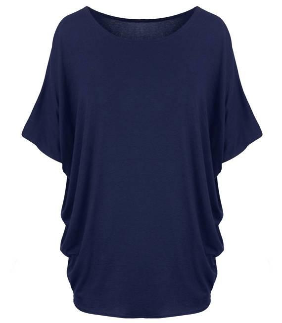 Klasyczna wygodna gładka bluzka oversize
