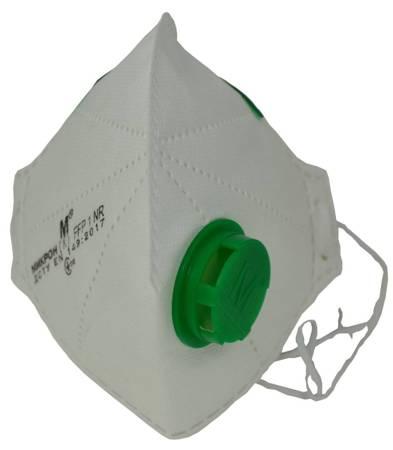 Maska składana ochronna FFP1 z zaworkiem