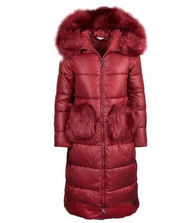 Mega Długi zimowy płaszcz GLAMOUR futro