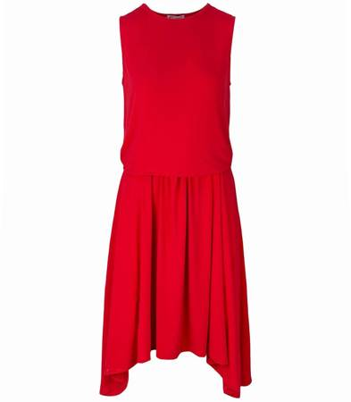 Mega rozkloszowana wiązana sukienka MAXI