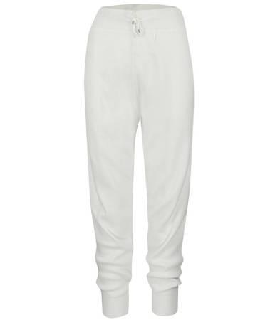 Modne GŁADKIE dzianinowe spodnie dresy CASUAL