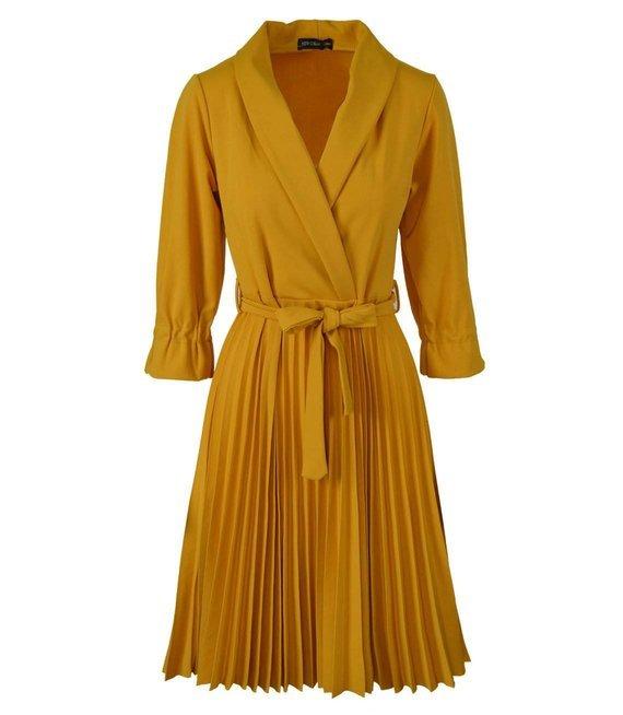 Sukienka plisowana solejka midi EN VOGUE