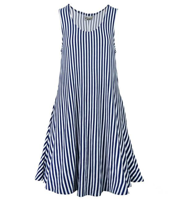 Sukienka w marynarskie PASKI lato