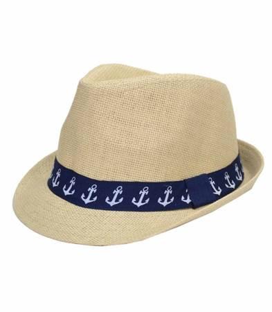 Super dziecięcy kapelusz słomkowy kotwica